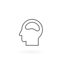 head icon design vector image