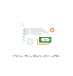 investment model business funding recoverable vector image