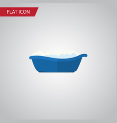 isolated children bathing flat icon bathtub vector image