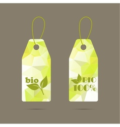 Label with triangular texture and polygonal mesh vector