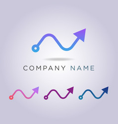 line arrow logo template for your your business vector image