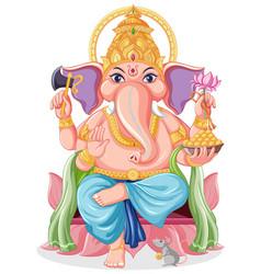 Lord ganesha cartoon style vector