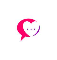 Love chat talk love logo design template vector