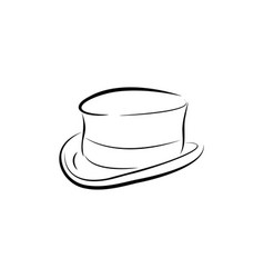 magician hat icon design template isolated vector image