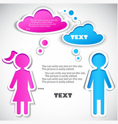 male talking with female vector image vector image