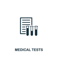 medical tests icon premium style design from vector image