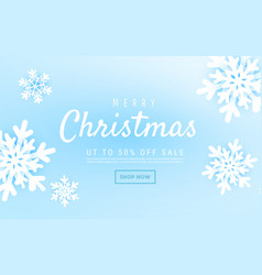 merry christmas and new year abstract with winter vector image