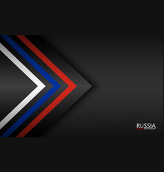 Modern colorful arrows with russian colors and vector