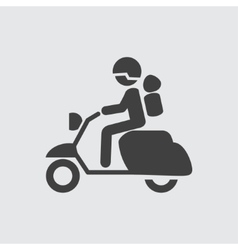 Motorcyclist icon vector image