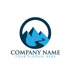 mountain landscape icon logo vector image