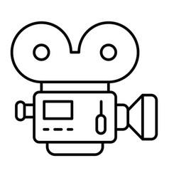 movie camera thin line icon retro cinema vector image