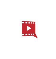 Movie talk logo design template vector