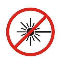 No laser sign vector