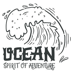 Ocean Spirit of adventure Hand drawn nautical vector image