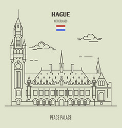 Peace palace in hague vector