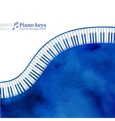 Piano keys watercolor background vector image