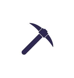 Pick axe icon on white vector