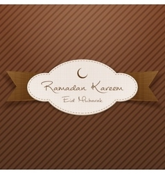 Ramadan Kareem Eid Mubarak greeting Emblem vector