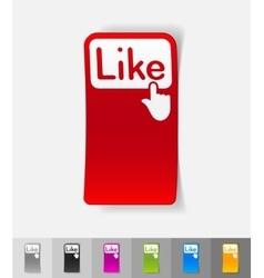 realistic design element click like vector image
