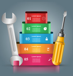 Recovery and repair business infographics vector