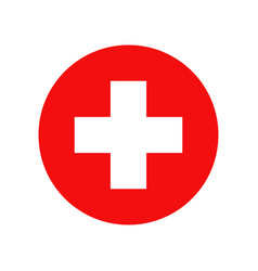 red cross isolated icon medicine health hospital vector image