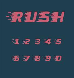 Rush character set vector
