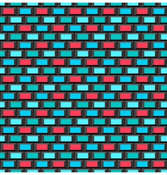 Seamless oldschool gamer pattern vector