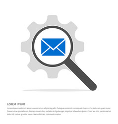 Send mail icon search glass with gear symbol icon vector