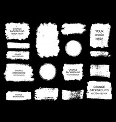 Set of white paint ink brush strokes brushes vector