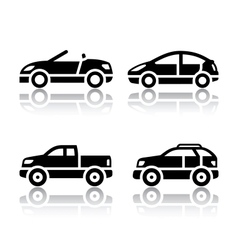 set transport icons - cars vector image