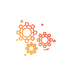 setting gear icon design vector image