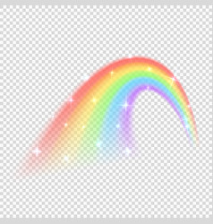 shine rainbow isolated on transparent vector image
