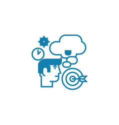 strategic planning linear icon concept strategic vector image
