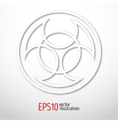 Symbol of alchemy and sacred geometry in paper vector image