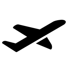 Takeoff Flat Icon vector image