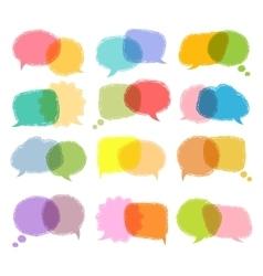 Talking bubble colorful set vector