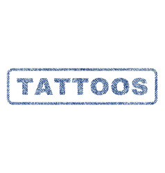 tattoos textile stamp vector image