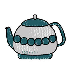 Tea pot icon vector