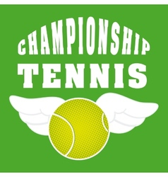 tennis sport vector image