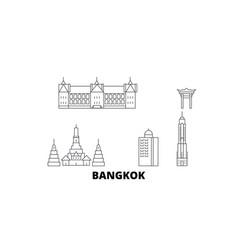 thailand bangkok city line travel skyline set vector image