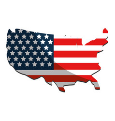 united states map and flag design vector image