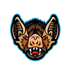 Vampire bat head mascot vector