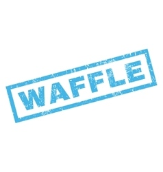 Waffle Rubber Stamp vector