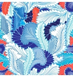 Winter patterns feathers vector image