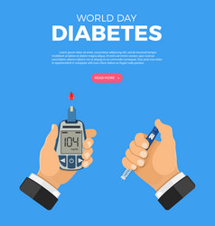 world diabetes day concept vector image