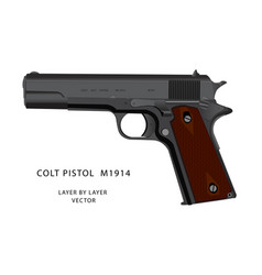 Ww2 colt pistol vector
