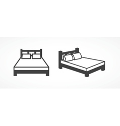 Bed icons vector image vector image