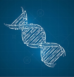 DNA preview vector image vector image