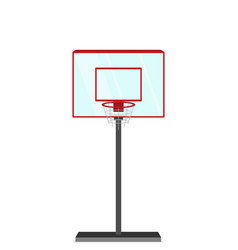 flat style basketball game vector image