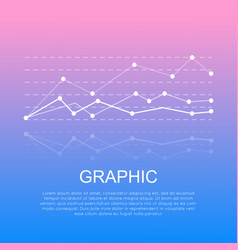 graphic with curve lines isolated with information vector image vector image